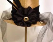 Gold and Black Silk Mini Top Hat