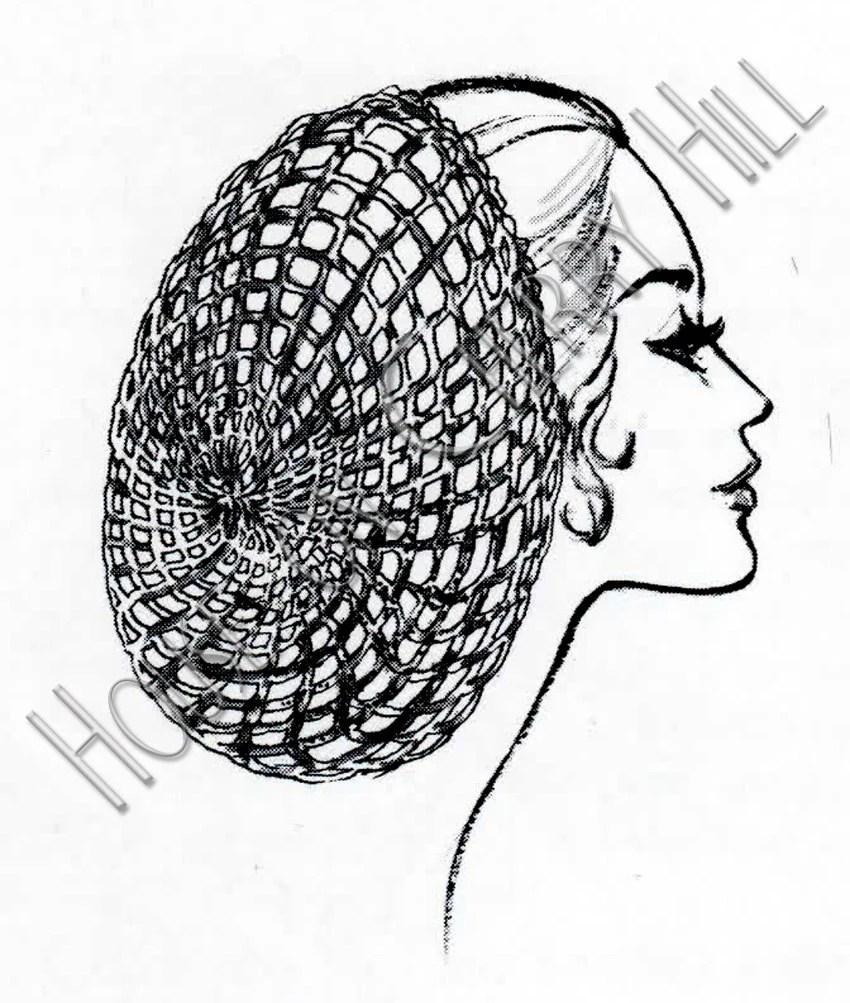 Snood Crochet Pattern digital printable hair by