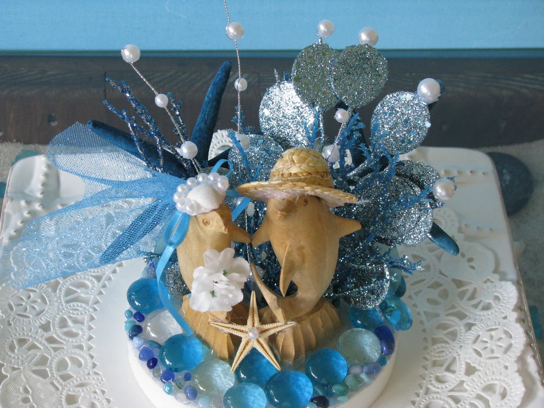 Beach Wedding Cake Topper Dolphin Wedding Cake Topper