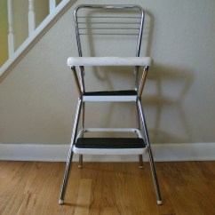 Chair Step Stool Walnut Dining Room Chairs Vintage Cosco