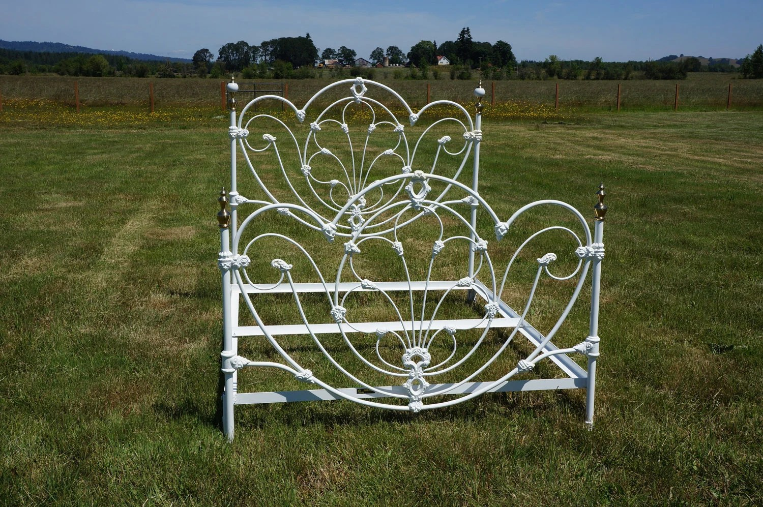 Omg Shabby Cottage Chic White Wrought Iron By