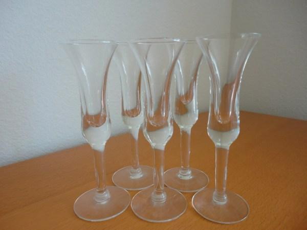 Vintage Liqueur Cordial Glasses Set Of 5 Topiaryhome