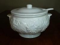 Ceramic Lidded Soup Punch Serving Bowl Pot by Uniquefinds4you
