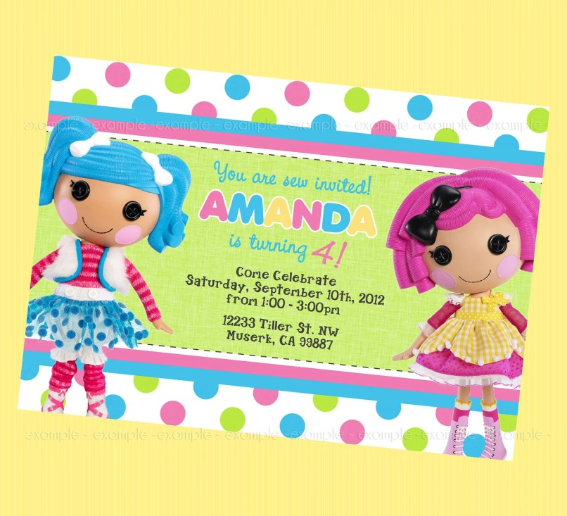 lalaloopsy birthday invitation template | Inviview.co