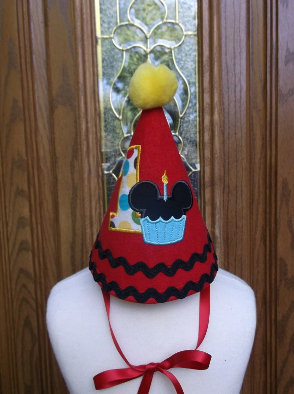Mickey Mouse First Birthday Hat
