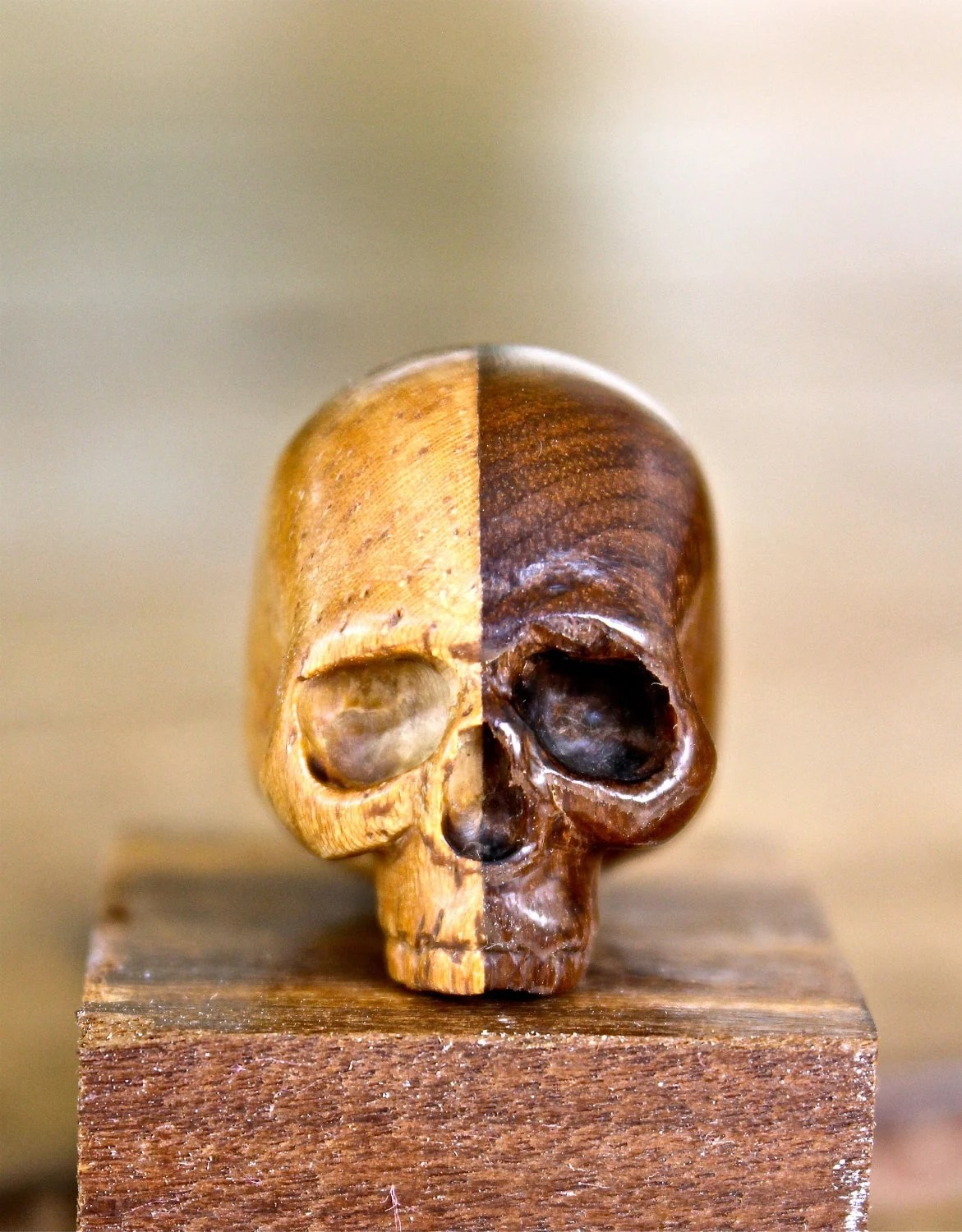 another tiny wooden skull