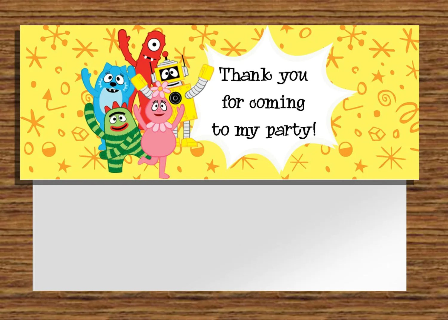 Instant Download Yo Gabba Gabba Printable Treat By Nhelydesigns