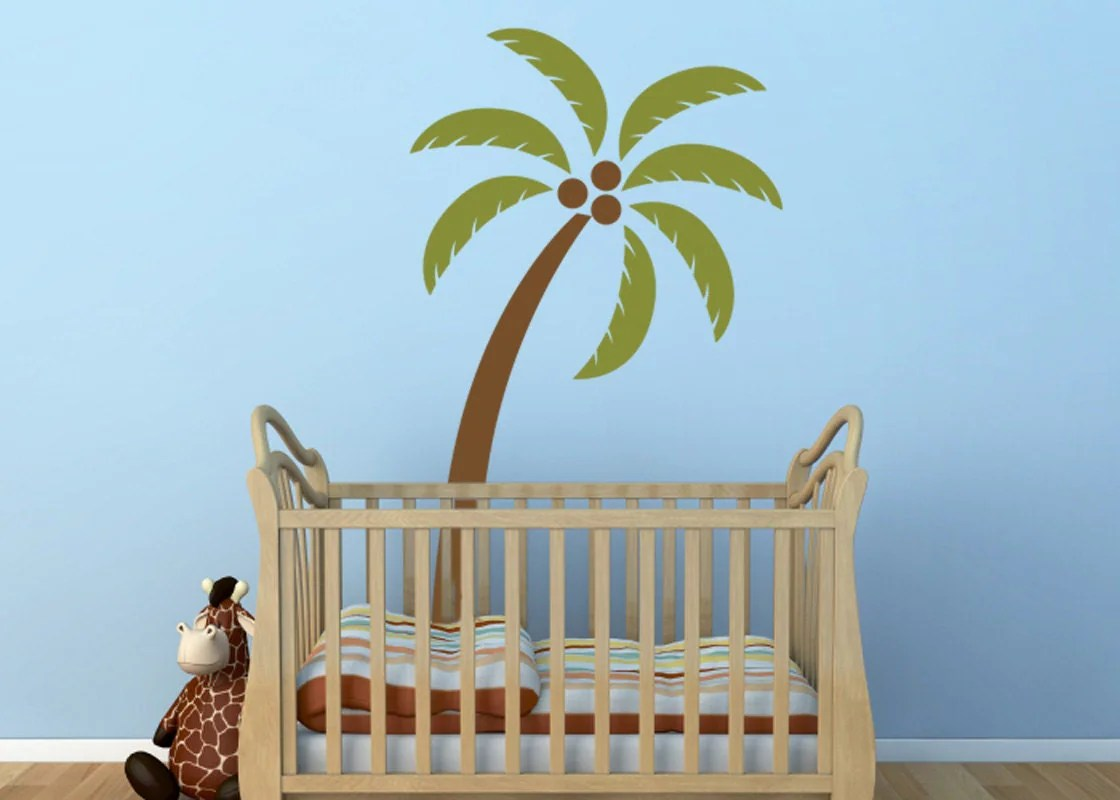 Palm Tree Vinyl Decal Size SMALL Home Decor Office Decor