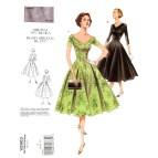 Rockabilly Cocktail Dress Sewing Pattern Vogue V2903 Retro