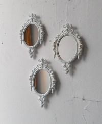 White Mirror Set Small Decorative Mirrors Vintage French