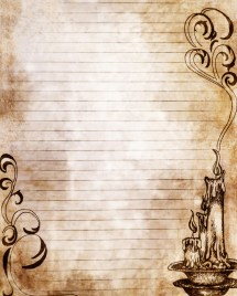 Printable Journal Page Pen And Ink Drawing Of Candles
