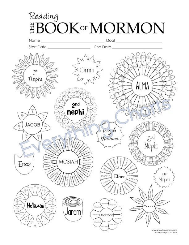 Book of Mormon Reading Chart PDF File/Printable