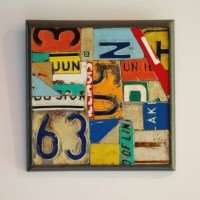 License Plate Metal Collage Wall Hanging Art by randitan ...