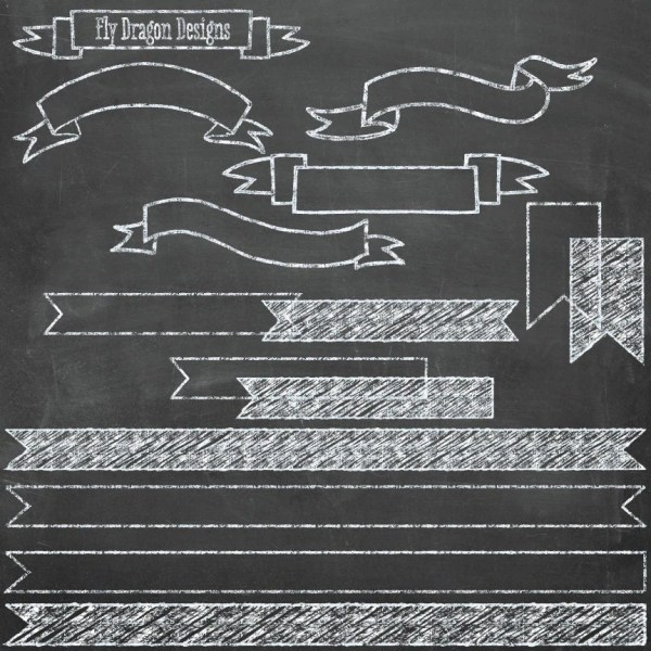 Chalk Clip Art Banners And Free Chalkboard Flydragondesign