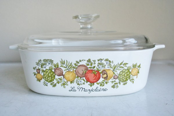 Vintage Corningware Spice Of Life Covered Casserole Dish