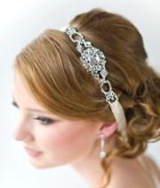 bridal ribbon headband luxe satin