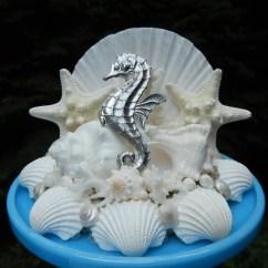 Adirondack Chair Kit Folding Papasan Canada Seashell Starfish Seahorse Wedding Cake Topper
