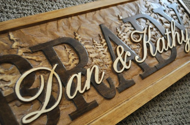 Personalized Sign Plaque Custom Carved Wood by Lovejoystore