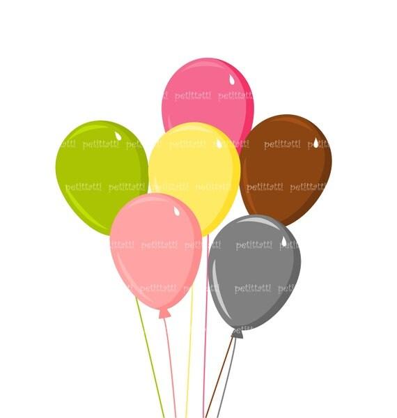 balloons clip art - digital