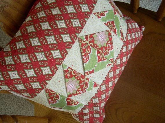 holiday bouquet 16 x 16 Pillow Cover - FREE SHIPPING