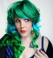emerald gem wig green blue aqua