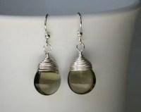 Nickel-Free Earrings for Sensitive Ears Smoky Gray Smooth
