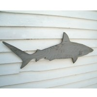 Wood Shark Sign Medium Wall Art Mako Shark Sign by