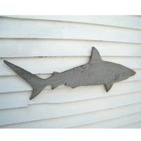 Wood Shark Sign Medium Wall Art Mako Shark Sign by ...