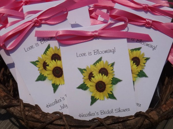 Personalized Sunflower Wedding Favor Flower Anniversary Seeds