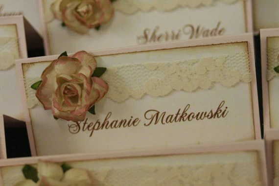 Items similar to Wedding Place Cards The Vera Collection