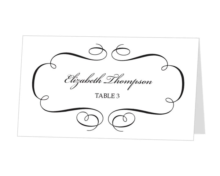 Printable Place Card Template INSTANT DOWNLOAD Escort by