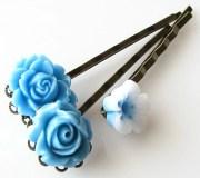 items similar blue hair accessories