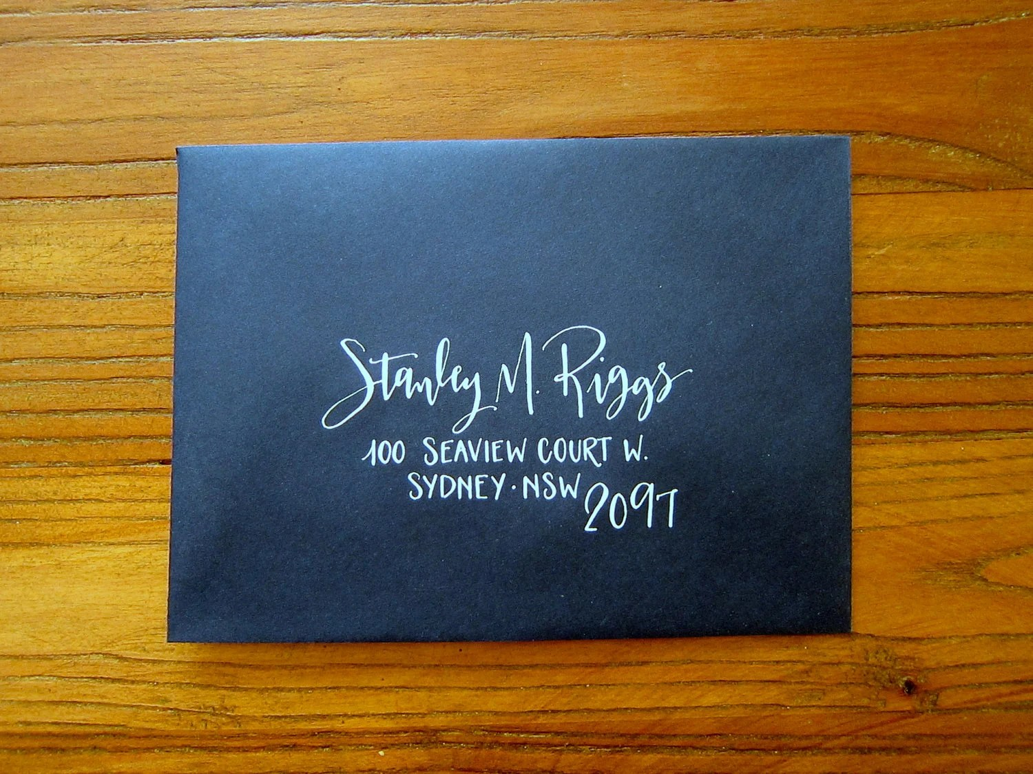 Hand Calligraphy Envelope Addressing Style Rebel Stout