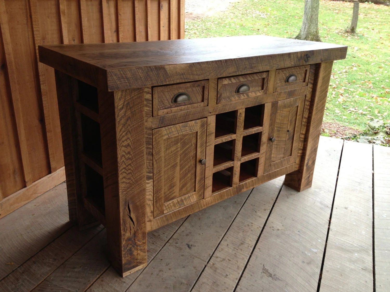 wine rack island kitchen primal custom listing aged oak with