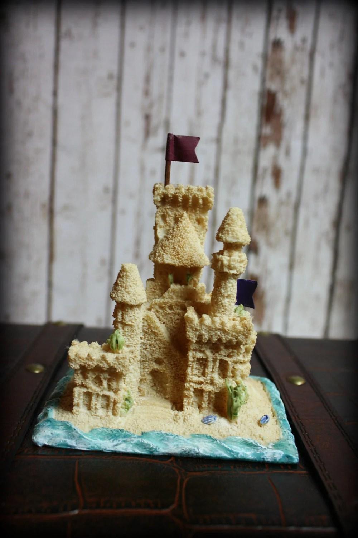 Sand Castle Wedding Cake TopperBeach Themed Wedding Cake