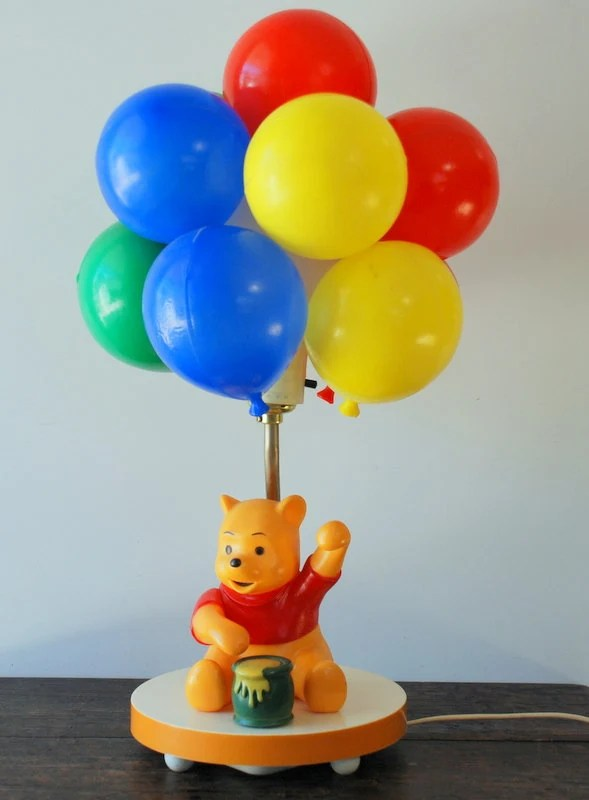Reserved For Jennifer Vintage Winnie The Pooh Balloon Lamp