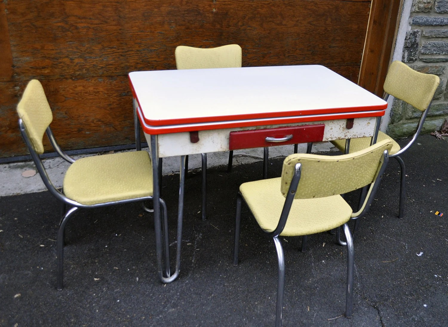 retro chrome chairs wrought iron chair foot pads half off 50% lloyd plated and enamel diner