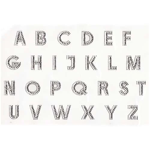 Individual Block 1.25 inch Rhinestone letters by