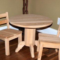 Unfinished Wooden Chairs For Toddlers Steelers Bean Bag Chair Round Table And Set