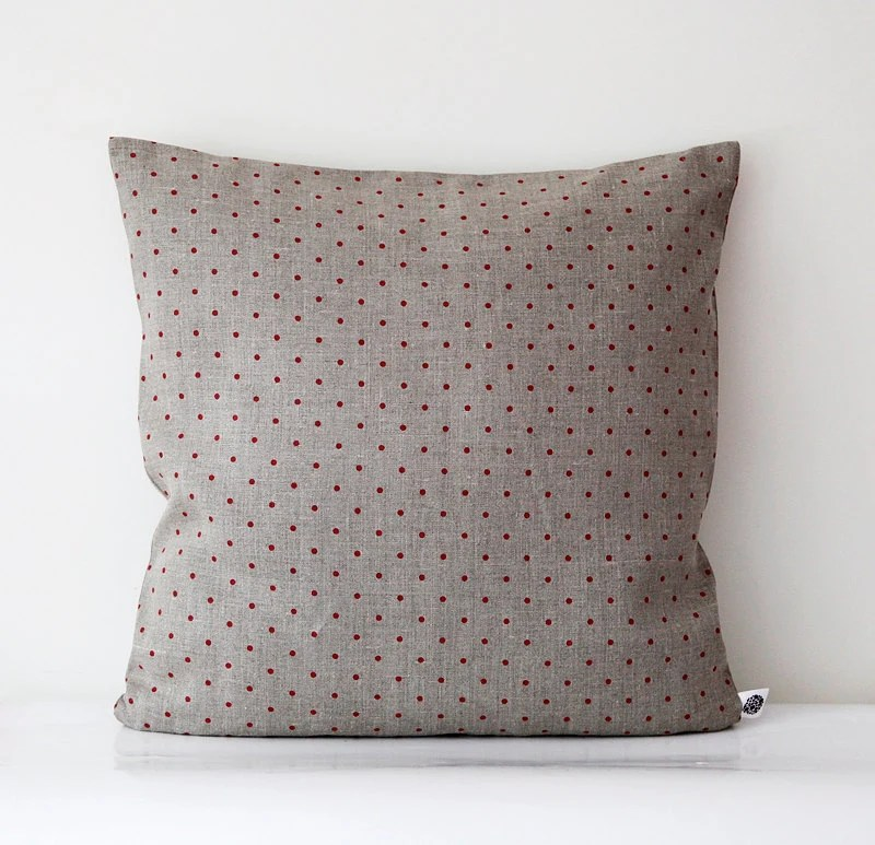Linen pillow 26x26 decorative covers shams throw