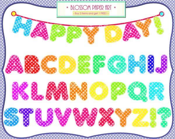 alphabet clipart digital letters
