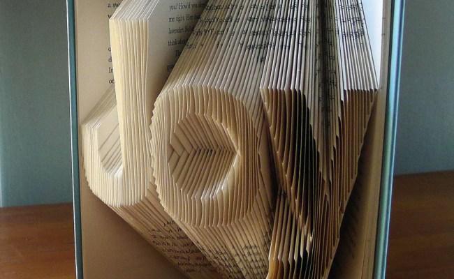 Joy Home Decor Holiday Folded Book Art Decorative
