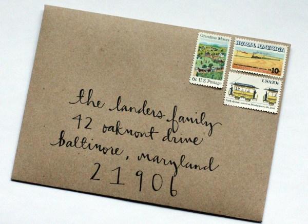 Addressing Envelope Font