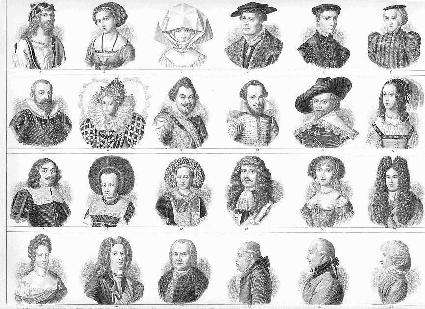 HAIRSTYLES Headgear Fashion thru Ages Durer Queen by
