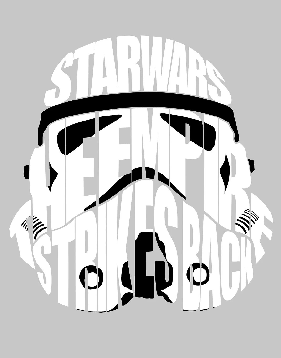 Star Wars Stormtrooper Word Art 11 x 14 Print