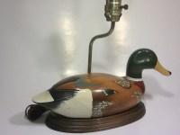 Vintage Wood Mallard Duck Lamp by AlienVintage on Etsy