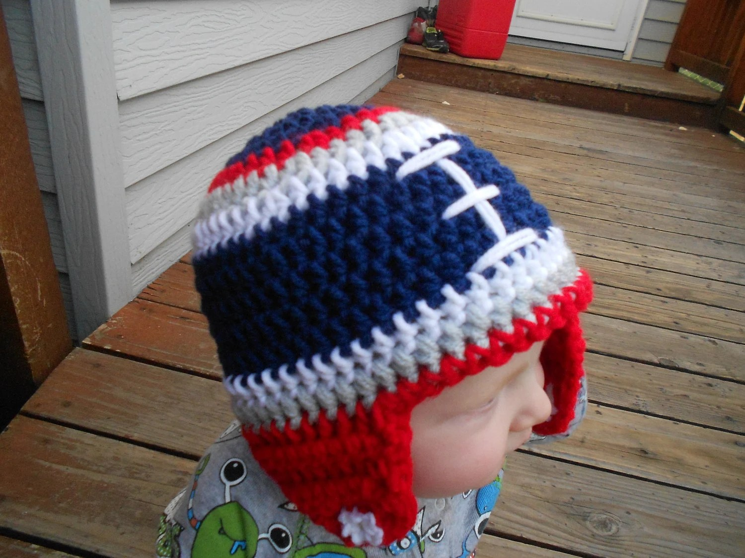 342e5db80 ... best items similar to custom crochet football hat new england patriots  pick your favorite nfl c183a
