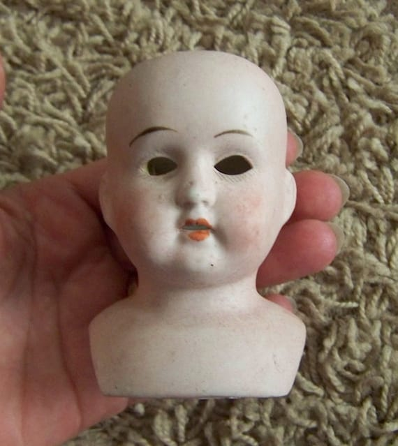 antique Germany china bisque porcelain doll head
