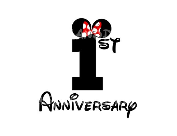 Items similar to Anniversary Personalized With Minnie Bow