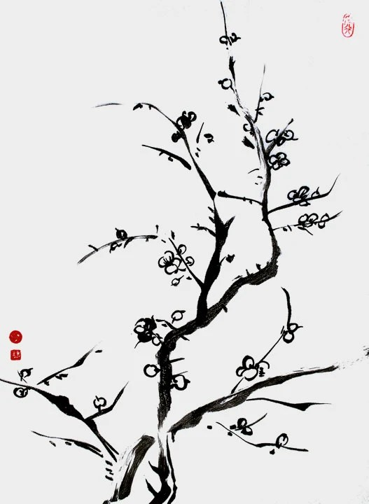 Chinese Calligraphy Zen Painting Ink Painting Meditative